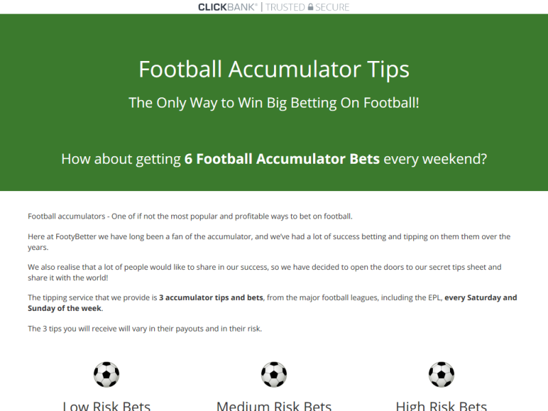 Best Betting Products » FOOTBALL ACCUMULATOR TIPS